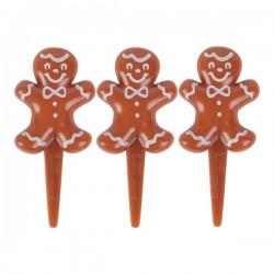 Pepparkaksgubbar, 6 st muffinsflaggor