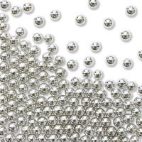 BF 20190528 - Metallic Silver (4 mm), sockerpärlor (275g)