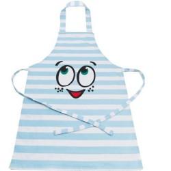 Happy Baking, blått barnförkläde