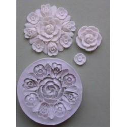 Art Deco Floral, silikonform