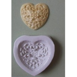 Filligree Heart, silikonform