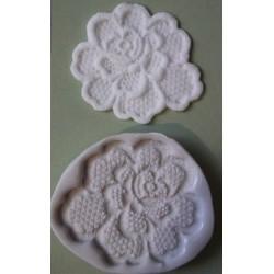 Lace Rose (mellan), silikonform