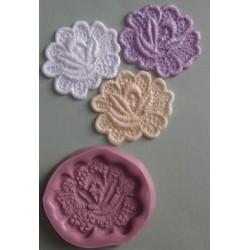 Lace Rose (liten), silikonform