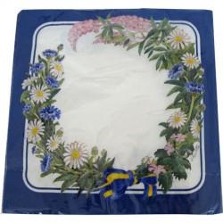 Blomkrans,  20 st servetter