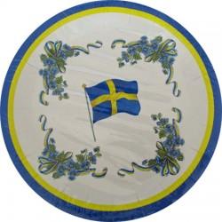 Flaggdag,  8 st tallrikar