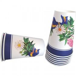 Blomsterkrans,  8 st muggar