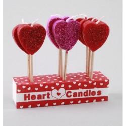 Glittriga hjärtan, 9 tårtljus