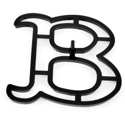 Bokstaven B, utstickare