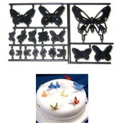 Fjärilar, 17 st utstickare/embossers