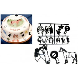 Häst, 13 st utstickare/embossers