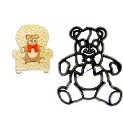 Nallebjörn, utstickare/embosser