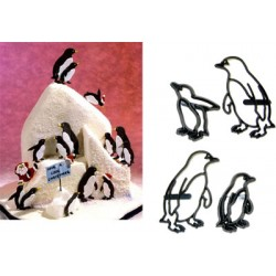 Pingvin, 4 st utstickare/embossers