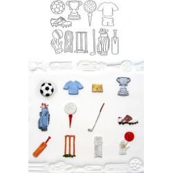 Sport, 12 st utstickare/embossers