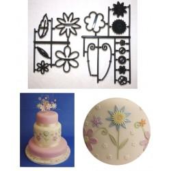 Fantasy Flowers, 15 st utstickare/embossers