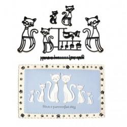 Katter, 11 st utstickare/embossers