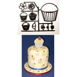 Cupcakes, utstickare/embossers