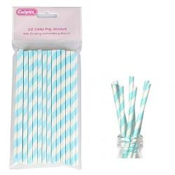 Cake Pop Straws, blå-vita