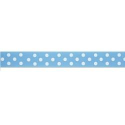 Dotty, blått kantband