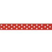 Dotty, rött kantband (metervara)