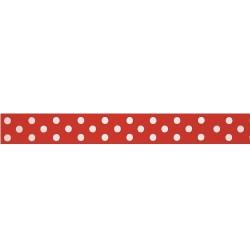 Dotty, rött kantband