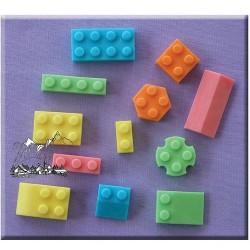 Legobitar, silikonform (A. Mould)
