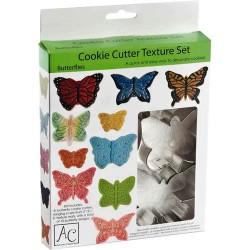 Fjäril, utstickare o mönster