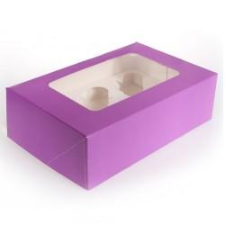 Ask för 6 muffins, 25 st (lila)