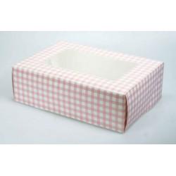 Tant Rut (rosa), ask för 6 muffins (2 st)
