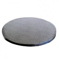 Svart, rund tårtbricka (ca 25 cm)