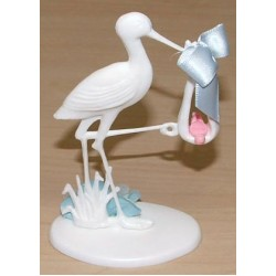 Stork, tårtdekoration (blå)