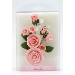 Blombukett, rosa (kristyr)