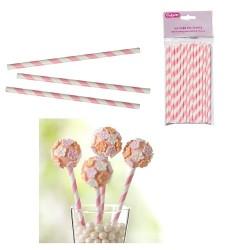 Cake Pop Straws, rosa-vita