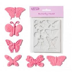 Fjärilar (6 st), silikonform