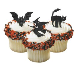 Creapy Halloween, 6 st muffinsflaggor