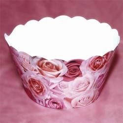 Pink Roses, cupcake wraps