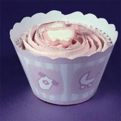 Baby, cupcake wraps (rosa)