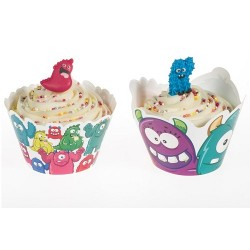 Monster, cupcake wraps