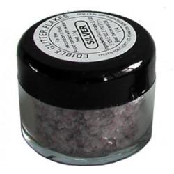 BF 20161231- Edible Glitter Flakes, silver (4  burkar)