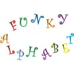 Bokstäver o Siffror, funky (versaler)