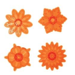 Cupcake Flower (set 1), 4 st utstickare