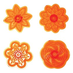 Cupcake Flower (set 2), 4 st utstickare