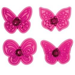 Fjäril, 4 st utstickare