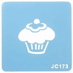 Cupcake, schablon