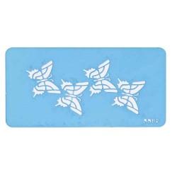 Fjärilar, schablon