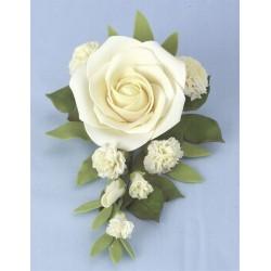 Blombukett med stor ros, dekoration