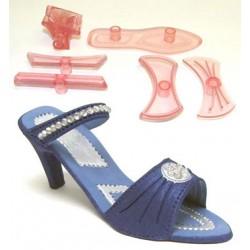 Högklackad sko, 9 delar