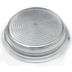 Rund tårtbas, silverfärgad