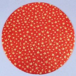 Tårtbricka, röd m stjärnor