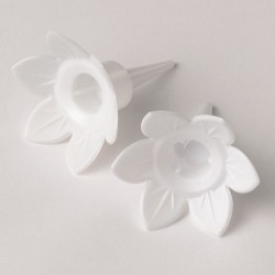 Ljushållare, vita (5 st)