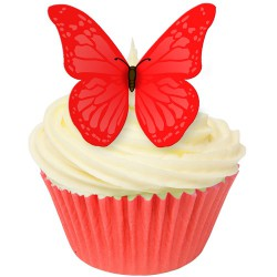 Scarlet Red, 12 st ätbara fjärilar